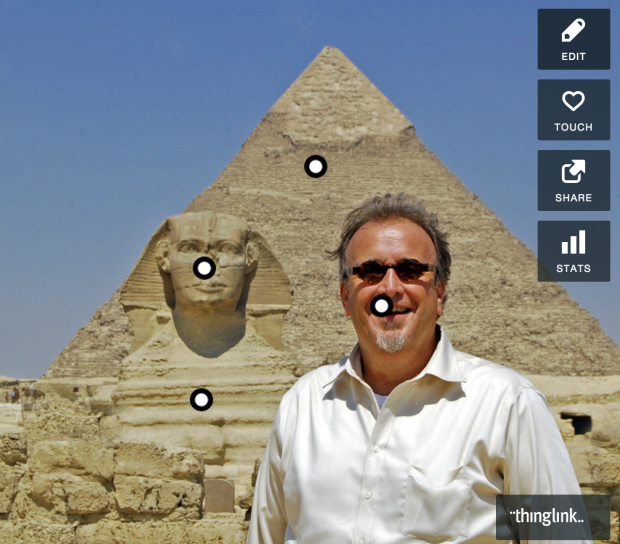 Click on this image of Al Tompkins and explore the image using ThingLink